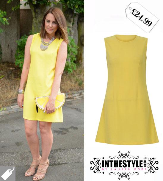 Fashion 2017 zara - Yellow Shift Dress Zara Images