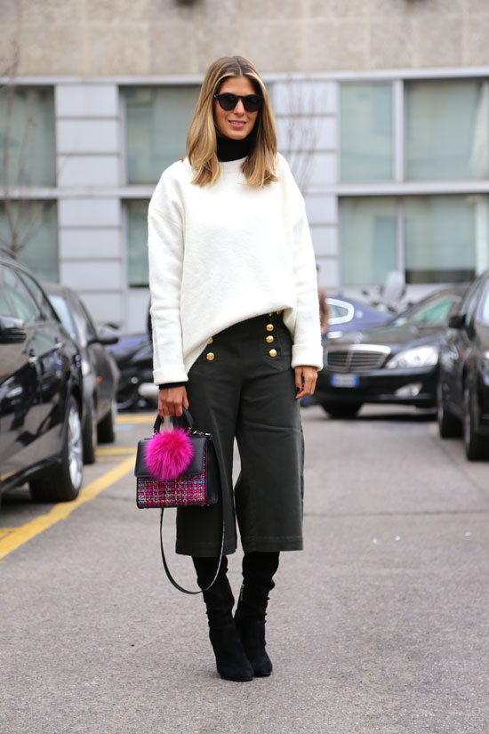 Image result for culottes with boots