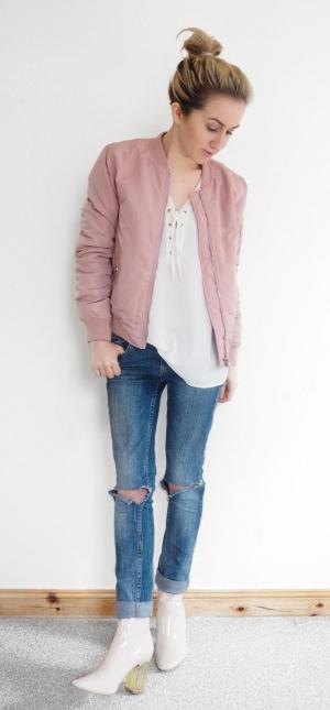 Pink Bomber Jacket | Today I'm Wearing …